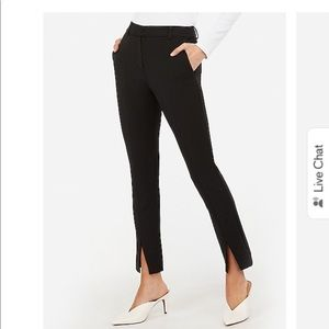 High waisted front slit skinny pant